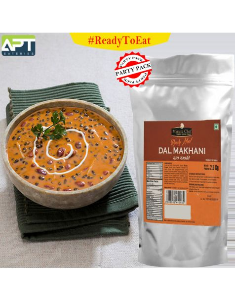 Minute Chef- Ready to Eat Dal Makhani, 2.5Kg Family Pack / Big Pack / Party Pack