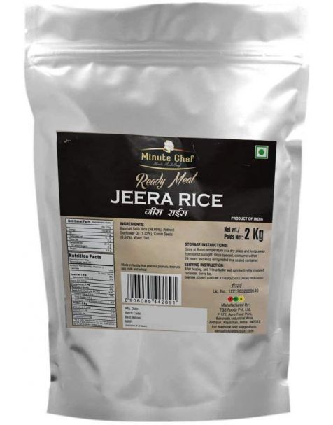 Minute Chef Ready to Eat Basmati Jeera Rice 2 Kg