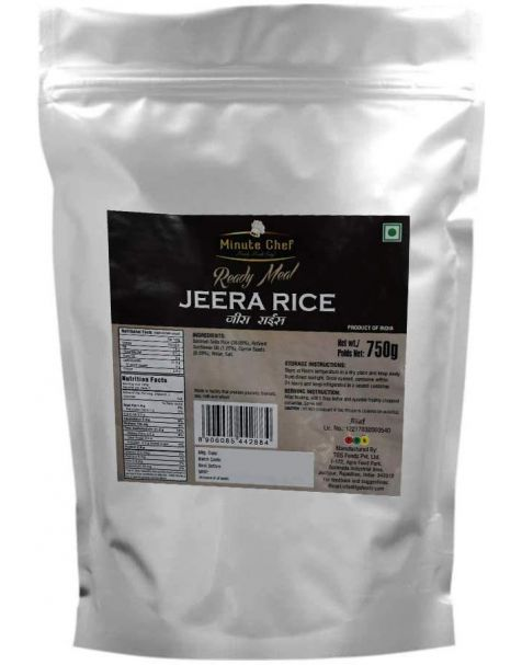 Minute Chef-Ready to Eat Basmati Jeera Rice 250g