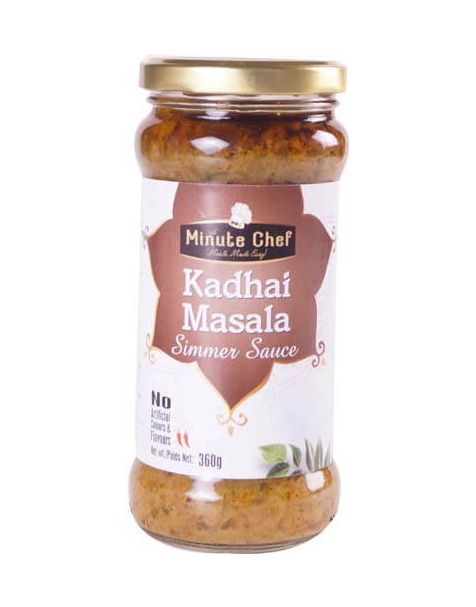 Minute Chef- Ready to Cook Kadhai Masala Simmer Sauce, 360g