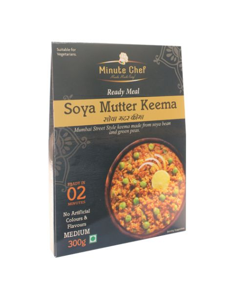 Minute Chef- Ready to Eat SOYA Mutter Keema,300g
