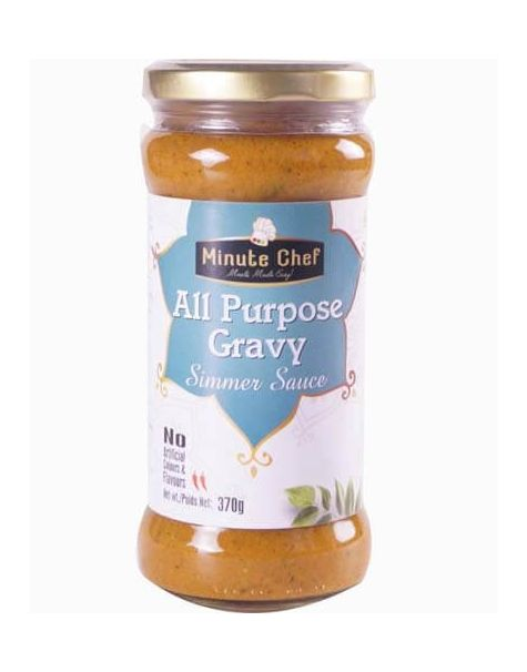 Minute Chef- Ready to Cook All Purpose Gravy Simmer Sauce, 370g